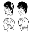 portrait of the young men vector image vector image