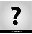 Question Icon Picture on grey background vector image