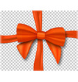 realistic ribbon isolated on transparent vector image vector image