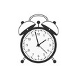 red wake up clock vector image vector image