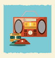 retro music design vector image vector image