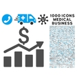Sales Chart Icon with 1000 Medical Business vector image vector image