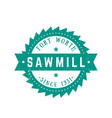 sawmill logo retro emblem in vintage style vector image