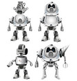 set of robot character vector image