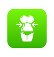 spa body silhouette icon green vector image