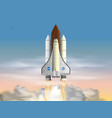 space shuttle flat design isolated on white vector image vector image