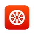 sprocket from bike icon digital red vector image vector image