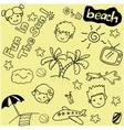 Summer beach doodle art vector image vector image