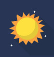 sun icon set of great flat icons with style long vector image