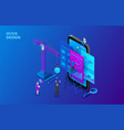 ui design concept with smartphone crane and vector image vector image