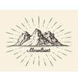 Vintage hand drawn Mountains Sketch vector image