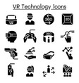 vr virtual technology icon set vector image vector image