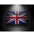 waving flag United Kingdom on a dark wall vector image vector image