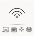 Wifi icon wireless wi-fi network sign
