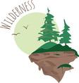 Wilderness vector image vector image