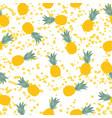 pineapple natural seamless pattern backgroun vector image
