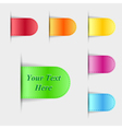 Set of colorful glossy labels vector image