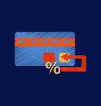 flat shading style icon bank card vector image