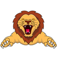 angry lion cartoon vector image