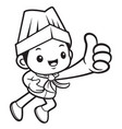 black and white executive chef mascot took a best vector image