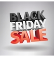 3d big friday sale text isolated on white vector image vector image