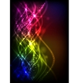 Abstract Neon Waves vector image