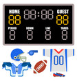 american football player uniform sport game icons vector image vector image