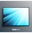 background template with blue gradient rays vector image vector image