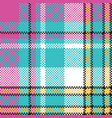 bacolor check fabric pixel texture seamless vector image vector image