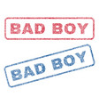 bad boy textile stamps vector image vector image