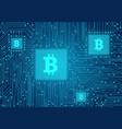 bitcoin concept vector image vector image