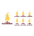 bonfire construction set vector image