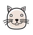 Cartoon animal head icon Cat face avatar for vector image vector image