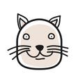 cartoon animal head icon cat face avatar vector image vector image