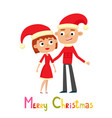 cartoon cute couple of woman and man isolated on vector image