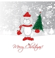 Christmas card design with funny bear vector image