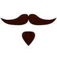 colorful cartoon moustache beard set vector image