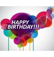 colorful happy birthday banner vector image vector image