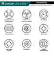 concept line icons set 02 engineering vector image
