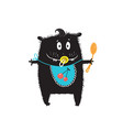 cute hungry little kid monster character with a vector image vector image
