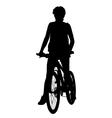 Cyclist woman vector image