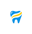 dentist abstract health care medic logo vector image vector image