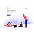 domestic concept pet care vector image