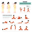 exercise for muscle pain infographic vector image vector image
