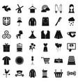 fashion dress icons set simple style