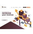 flat color modern isometric concept - increase vector image vector image
