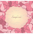 flower ornamental frame in eastern style vector image