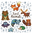 Forest tribal animals set vector image vector image