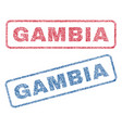 gambia textile stamps vector image vector image