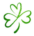 green gradient silhouette of the shamrock clover vector image vector image